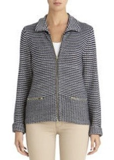 Cardigan with Long Sleeves and Zip Front