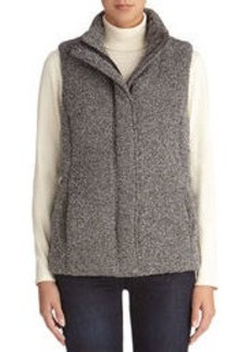 Channel Quilted Tweed Vest (Plus)