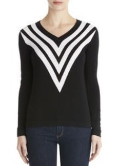 Chevron V-Neck Sweater