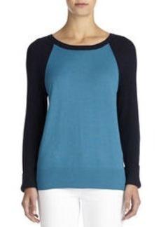 Color Block Pullover Sweater