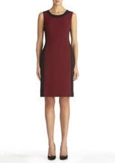 Color Block Sheath Dress (Plus)