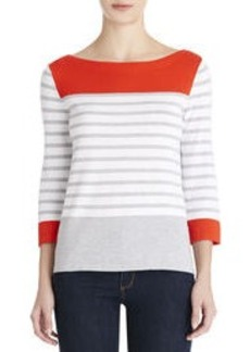 Colorblock Boat Neck Sweater