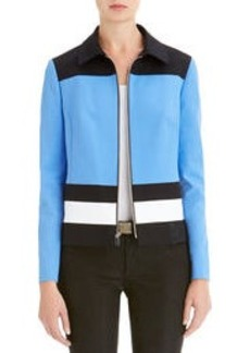 Colorblock Front Zip Jacket (Petite)