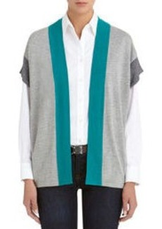 Colorblock Oversized Cardigan