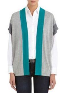 Colorblock Oversized Cardigan (Petite)