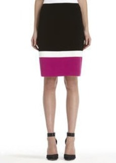 Colorblock Pencil Skirt (Plus)