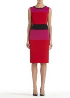 Colorblock Sheath Dress