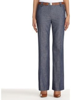Cotton and Linen Modern Fit Pants (Petite)