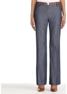 Cotton and Linen Modern Fit Pants (Petite)