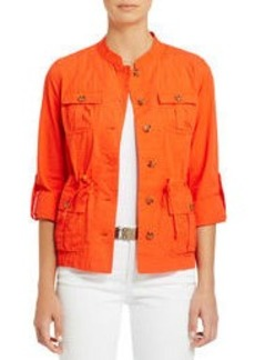 Cotton Utility Jacket with Roll Sleeves