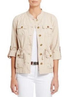 Cotton Utility Jacket with Roll Sleeves (Plus)