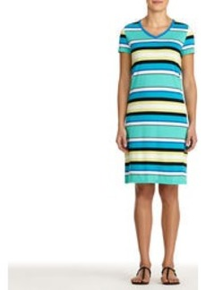 Cove Blue V-Neck Dress (Petite)