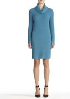 Cowl Neck Dress with Long Sleeves