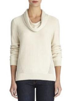 Cowl Neck Pullover Sweater (Petite)