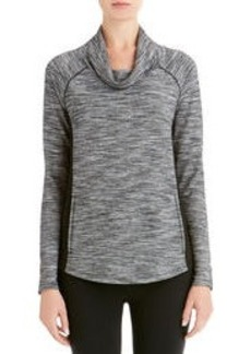 Cowl Neck Pullover with Raglan Sleeves