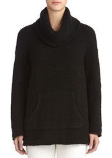 Cowl Neck Sweater with Drop Shoulders