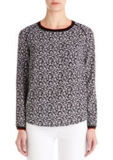 Crew Neck Shirt with Ribbed Detail (Petite)