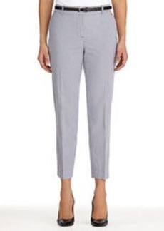 Cropped Cotton Pants with Side Slits