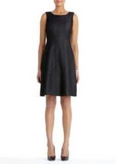 Denim Dress with Topstitch Detail