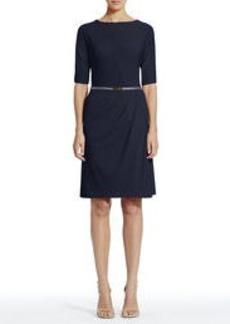 Dolman Sleeve Wrap Dress with Belt