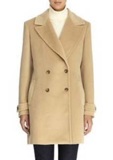 Double Breasted Camel Car Coat