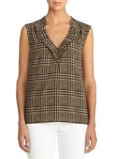Easy Pullover Short Sleeve Blouse (Plus)