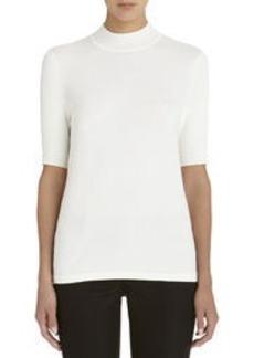 Elbow Length Mock Neck Sweater