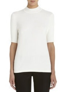 Elbow Length Mock Neck Sweater