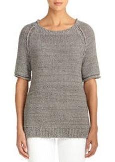 Elbow Length Raglan Sleeve Sweater (Plus)