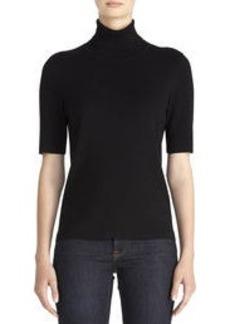 Elbow Sleeve Turtleneck Sweater