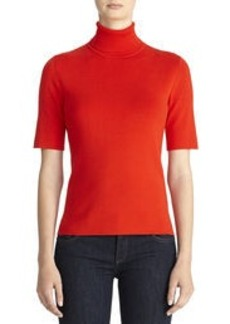 Elbow Sleeve Turtleneck Sweater (Petite)