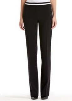 Faux Leather Trim Pants
