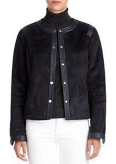 Faux Shearling Cropped Coat