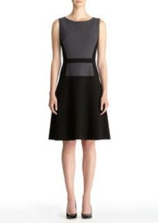 Fit and Flare Dress with Dropped Waist
