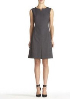 Fit and Flare Seasonless Stretch Kick Pleat Dress