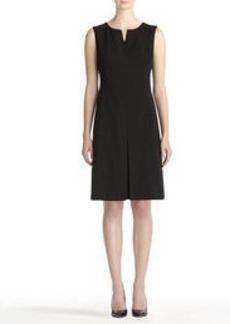 Fit and Flare Seasonless Stretch Kick Pleat Dress