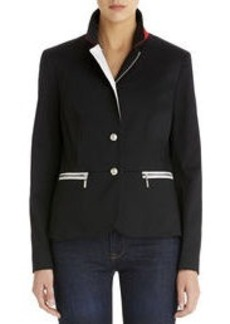 Fitted Jacket with Zip Pockets
