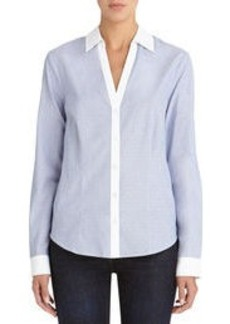 Fitted Split Neck Shirt