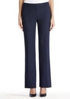 Flat Front Washable Wool Pants (Plus)