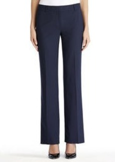 Flat Front Washable Wool Pants (Plus)