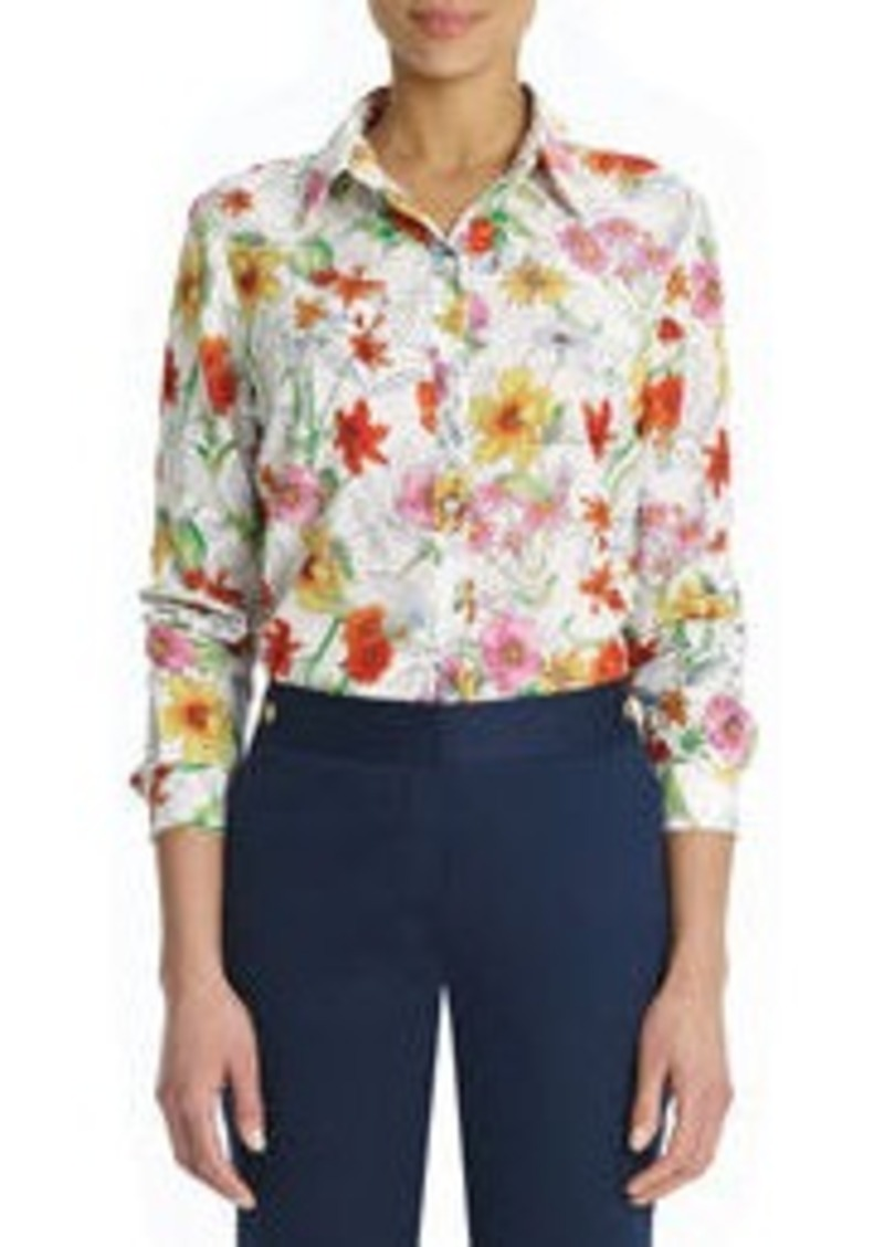 Floral Button Down Shirt (Petite)