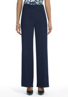 Full-Length Pants with Elastic Waist