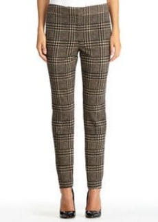 Glen Plaid Stovepipe Pants