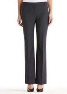 Gray Flat Front Washable Wool Pants