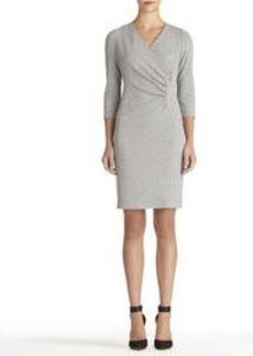 Gray Wrap Front Dress