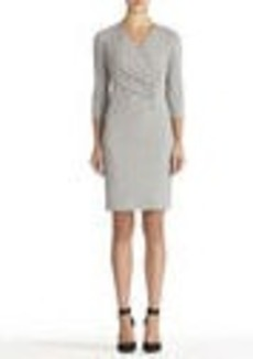 Gray Wrap Front Dress