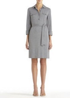 Heather Gray Polo Dress with Belt