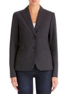 Heather Gray Washable Wool Jacket