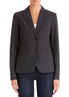 Heather Gray Washable Wool Jacket (Plus)