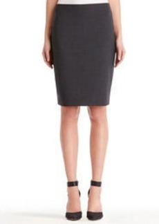 Heather Washable Wool Pencil Skirt (Plus)